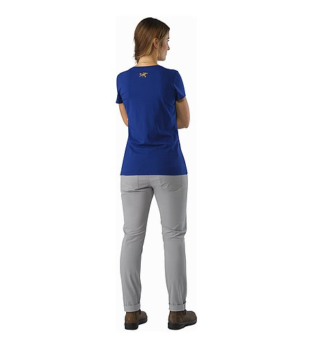 Cam V-Neck T-Shirt Women's Mystic Back View