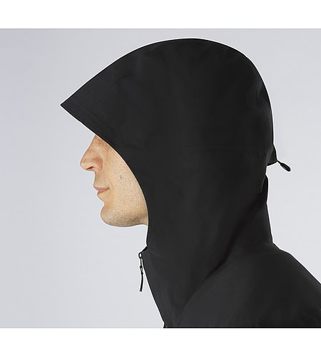 Conduct Anorak Black Hood Side View