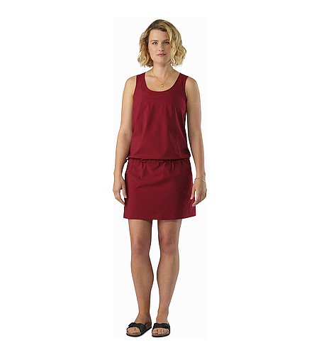 Contenta Dress Women's Scarlet Front View 2