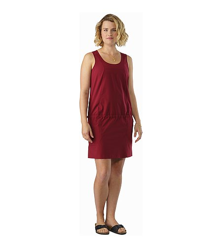 Contenta Dress Women's Scarlet Front View