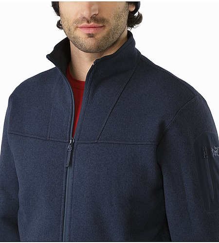 Covert Cardigan Kingfisher Open Collar