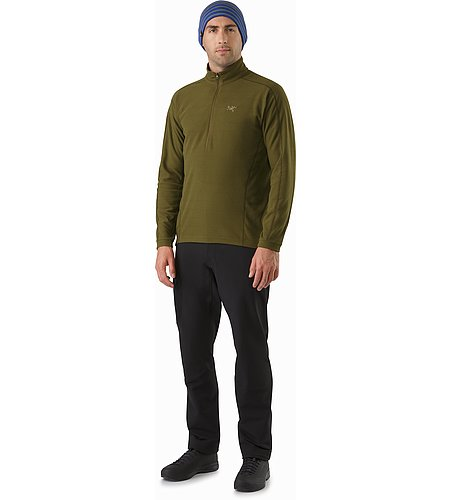 Delta LT Zip Neck Dark Moss Front View