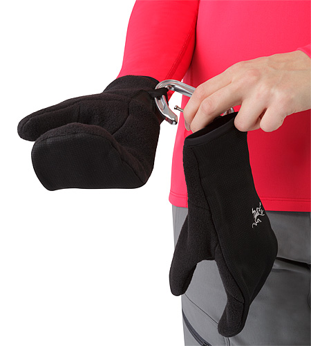 Delta Mitten Women's Black Webbing Loop