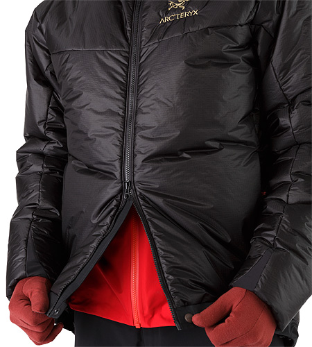 Dually Belay Parka Black 2 Way Front Zipper