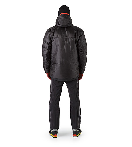 Dually Belay Parka Black Back View