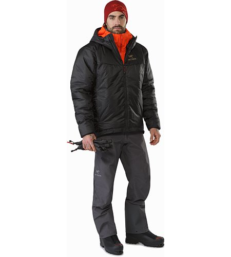 Dually Belay Parka Black Front View