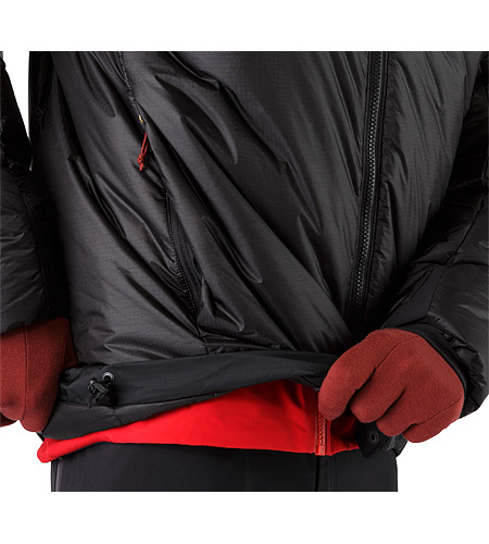 Dually Belay Parka Black Hem Adjuster
