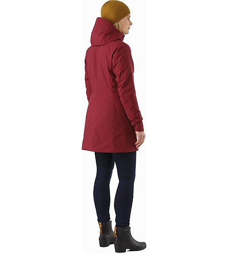 Durant Coat Women's Scarlet Back View