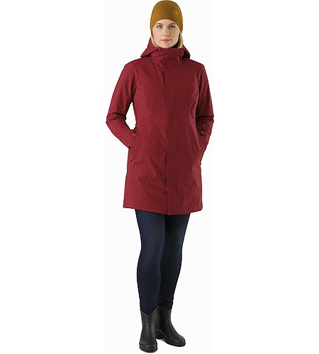 Durant Coat Women's Scarlet Front View