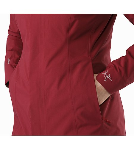 Durant Coat Women's Scarlet Hand Pocket