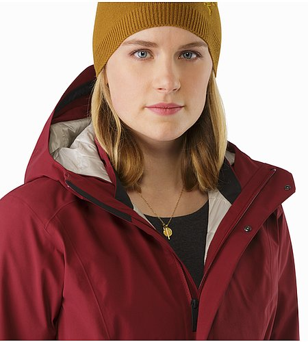 Durant Coat Women's Scarlet Open Collar