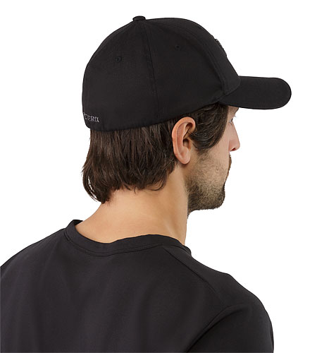Embroidered Bird Cap Black BAck View