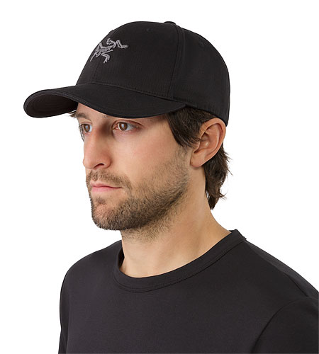 Embroidered Bird Cap Black Front View