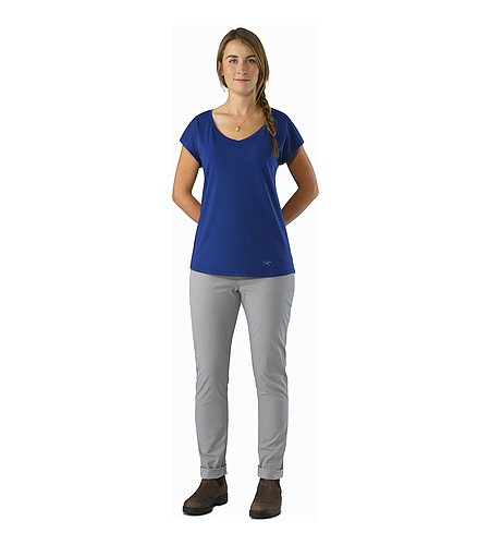 Emory Top SS Women's Mystic Front View