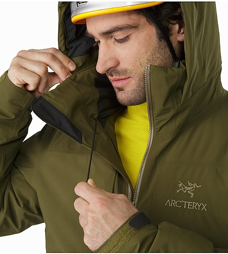 Fission SV Jacket Dark Moss Hood Adjuster