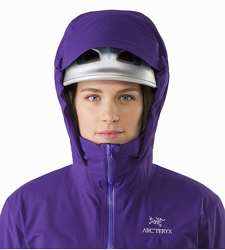 Fission SV Jacket Women's Azalea Helmet Compatible Hood Front View