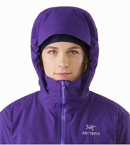 Fission SV Jacket Women's Azalea Hood Front View