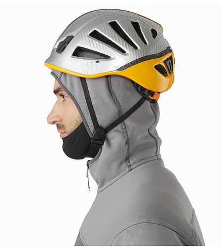 Fortrez Hoody Smoke Hood Side View With Helmet