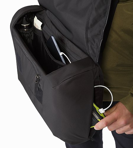 Fyx 13 Messenger Bag Black Organizer Panel 2