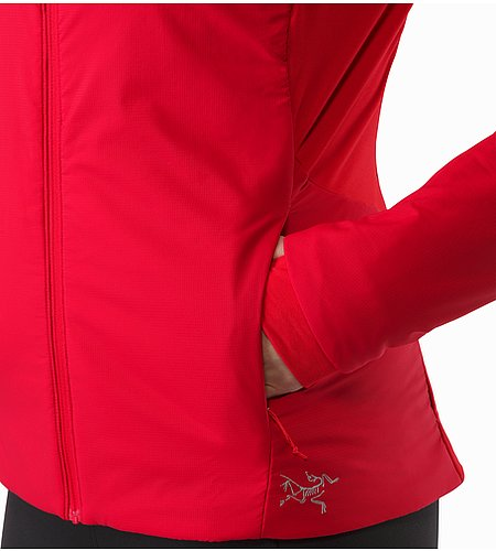 Gaea Jacket Women's Radicchio Hand Pocket