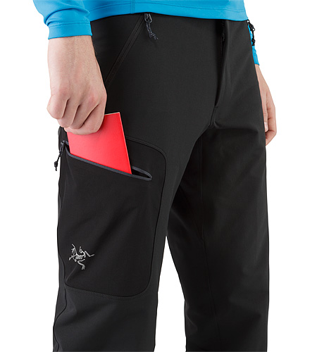 Gamma AR Pant Black Thigh Pocket