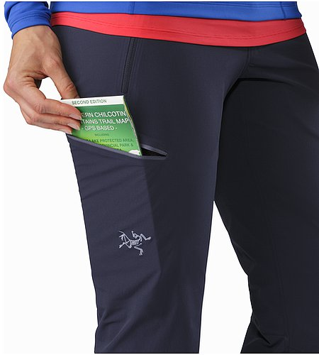 Gamma LT Pant Women's Black Sapphire Thigh Pocket