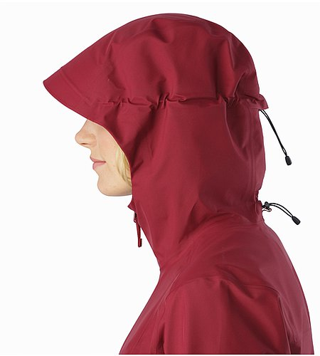 Imber Jacket Women's Scarlet Hood Side View