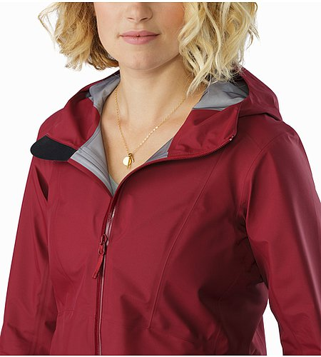 Imber Jacket Women's Scarlet Open Collar