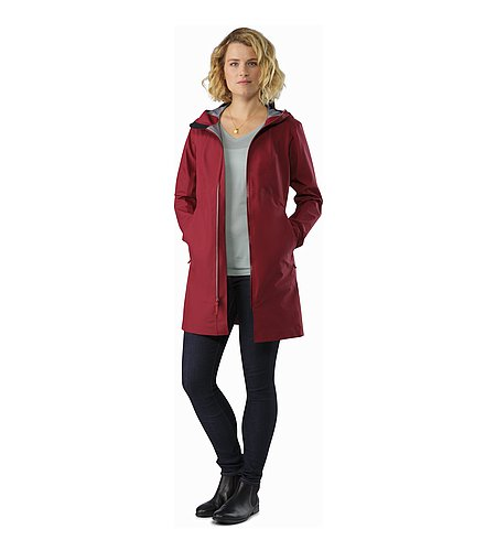 Imber Jacket Women's Scarlet Open View
