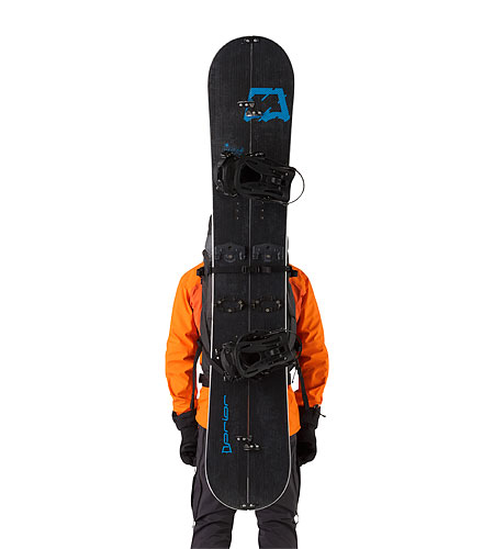 Khamski 38 Backpack Mercury With Snowboard Attached