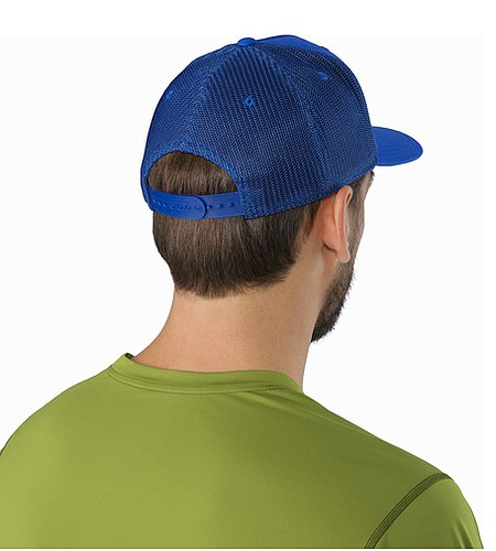 Logo Trucker Hat Deja Blue Back View