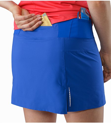 Lyra Skort Women's Somerset Blue External Pocket Back