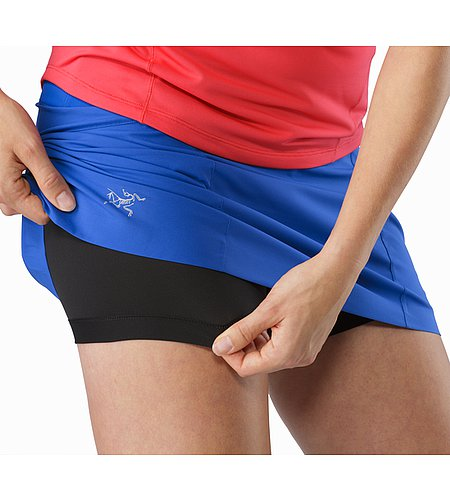 Lyra Skort Women's Somerset Blue Integrated Briefs