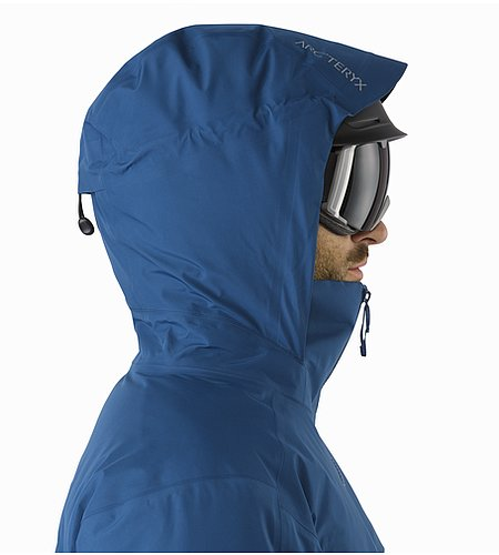 Macai Jacket Triton Helmet Compatible Hood Side View