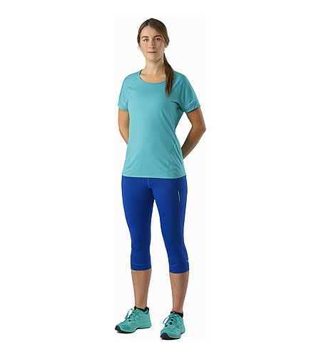 Nera 3/4 Tight Women's Somerset Blue Front View