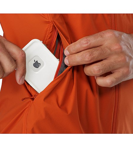 Nodin Jacket Rooibos Security Pocket