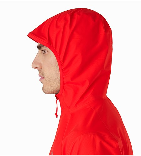 Norvan Jacket Magma Hood Side View