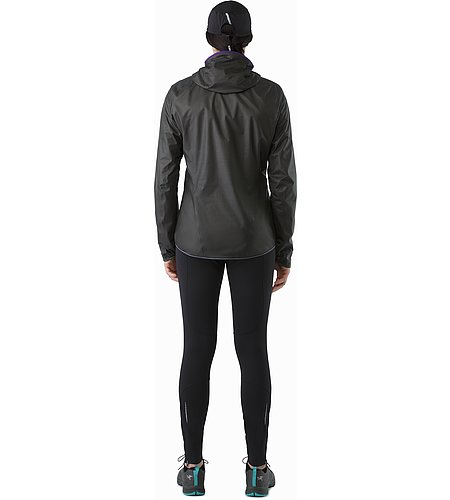 Norvan SL Hoody Women's Black Azalea Back View