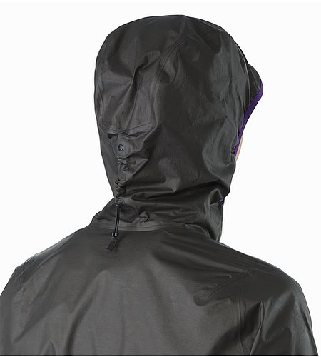 Norvan SL Hoody Women's Black Azalea Hood Back View