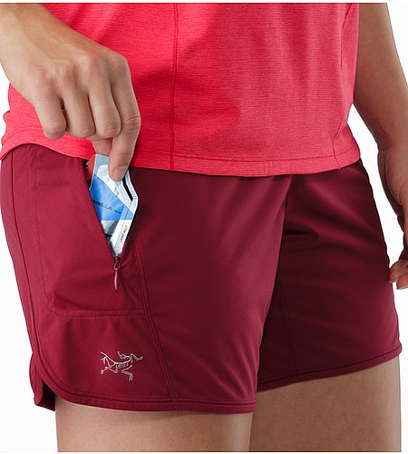 Ossa Short Women's Scarlet External Pocket Front