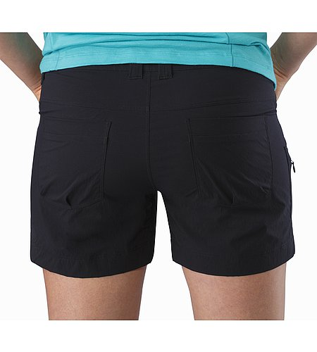 Parapet Short Women's Black External Pocket Back