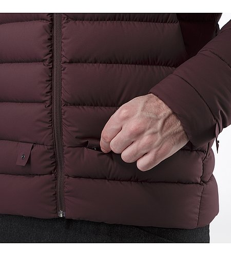 Patrol Down Coat Maroon Liner Attachment System