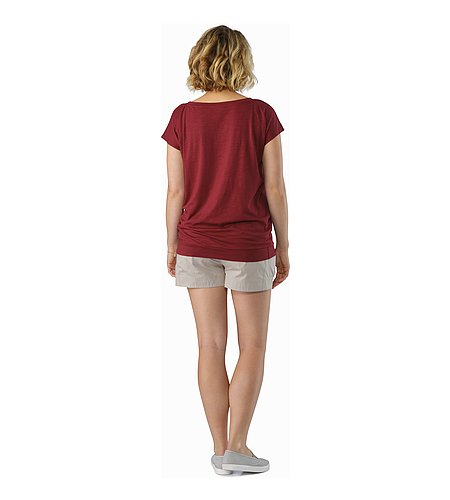 Pembina Top SS Women's Scarlet Back View
