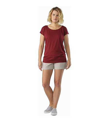 Pembina Top SS Women's Scarlet Front View