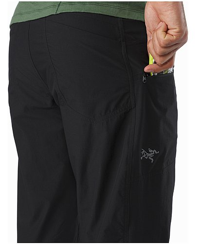 Perimeter Pant Black Thigh Pocket