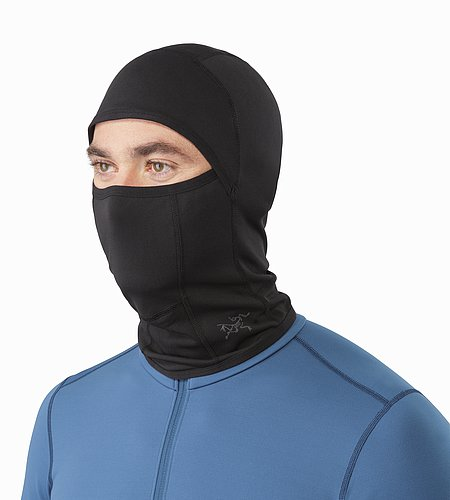 Phase AR Balaclava Black Front View
