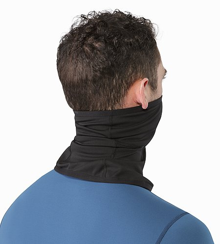 Phase AR Neck Gaiter Black Back View