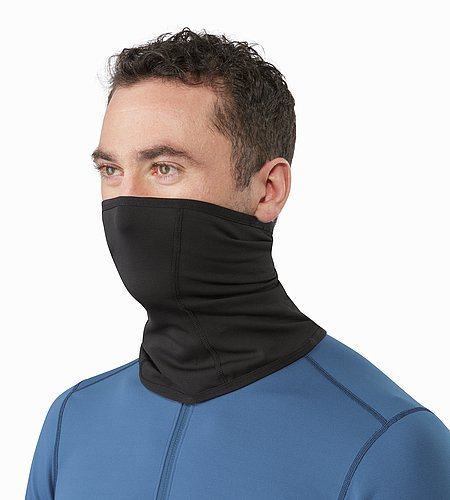 Phase AR Neck Gaiter Black Front View