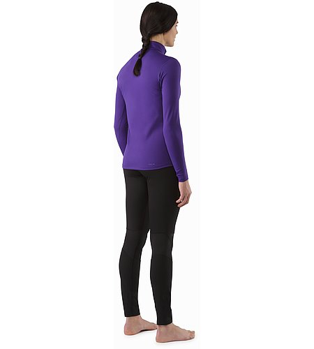 Phase AR Zip Neck LS Women's Azalea Back View
