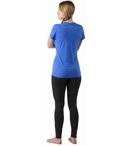 Phase SL Crew SS Women's Island Blue Back View